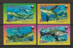 Tokelau MNH 308-11 Sharks WWF 2002