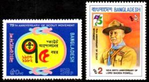 Bangladesh (1982) Sc# 209-210, Scouting; MNH