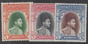 Pakistan Bahawalpur  Scott # 18-20 Mint never hinged