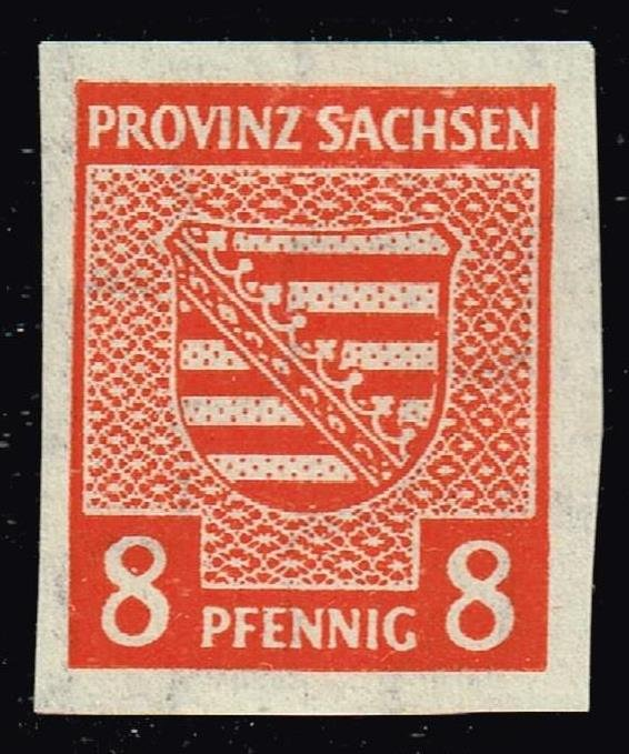 GERMANY STAMP Russian Zone Saxony 1945 Coat of Arms 8 Pfennig MH/OG