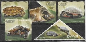 2014   CONGO  -  TURTLES  -  MNH