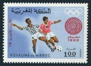 Morocco 215,MNH.Michel 640. Olympics Mexico-1968.Soccer,