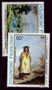 French Polynesia SC C197-C198 MNH VF...Worth a Close look!!