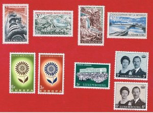 Luxembourg #407//416  MNH OG  Europa plus others  Free S/H