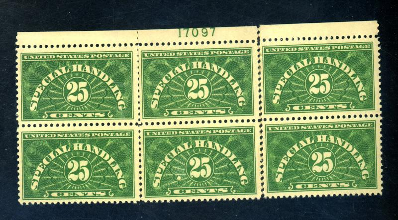 QE4 MINT Plate Block F-VF OG LH Reattached Separations Cat $350