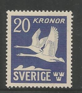 SWEDEN  C8C  MINT HINGED,  FLYING SWANS