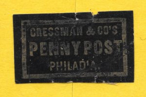 53L1, Cressman & Co. Penny Post, Unused, scv: $350