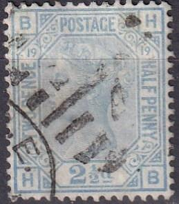 Great Britain #68 Plate 19 F-VF Used  CV $60.00 (A19492)