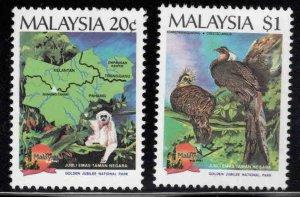 Malaysia Scott 411-412 MNH** National Park wildlife set