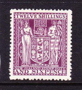 NEW ZEALAND 1931 12/6  ARMS  MLH SG F156