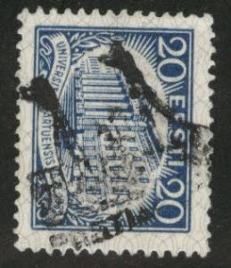 Estonia Scott 111 used from 1932 set fancy cancel