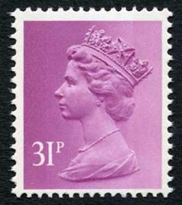 SGX919 1986 31p mauve 2-B u/m ex B Rail prestige booklet cat 15 Pounds