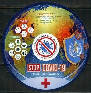 LIBERIA  2020 VIRUS PANDEMIC SOUVENIR SHEET MINT NEVER HINGED