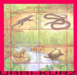 MOLDOVA 2005 Nature Fauna Animals Reptiles Amphibians Snake Turtle Frog Lizard s