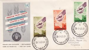 United Nations Food & Agricultural Organization 1963.Burundi World Hunger FDC