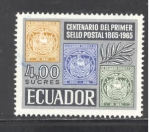 Ecuador Sc # 747 used (RS)