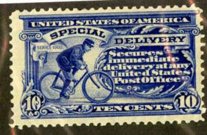 US Stamps # E6 10c Special Delivery FVF OG NH Bright And Fresh