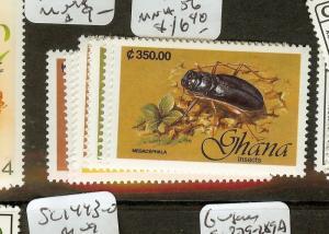 GHANA (B1801) INSECT  SC1349-56  MNH