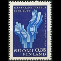FINLAND 1966 - Scott# 438 School Decree Set of 1 NH