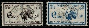 IRELAND SG107/8 1938 CENTENARY OF TEMPERANCE CRUSADE FINE USED
