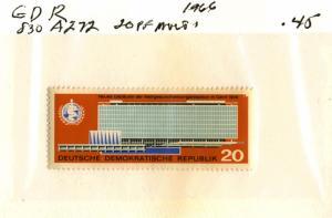 GERMANY DDR #830 , MINT NH - 1966 - DDR140NS