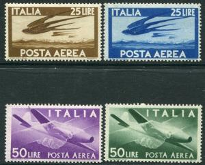 ITALY-1946-7 Air part set 25l & 50l values Sg 675-678 UNMOUNTED MINT V20499