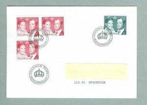 Sweden.  FDC 1976  Royal Wedding.   Engraver CZ Slania. Addressed