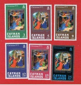 Cayman Islands #314-319  MNH OG  Christmas  Free S/H