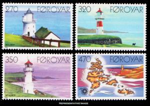 Faroe Islands Scott 130-133 Mint never hinged.