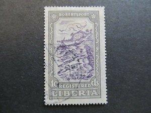 A4P25F23 Liberia Registration Stamp 1924 10c used