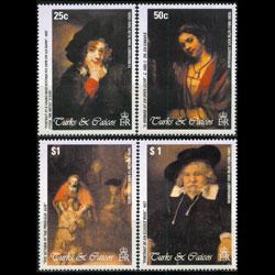 TURKS & CAICOS 2003 - Scott# 1396-9 Rembrandt Set of 4 NH