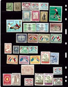 Paraguay #2 34 different mostly unused