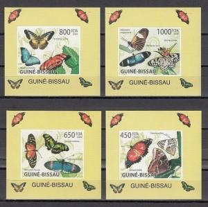 Guinea Bissau, Mi cat. 4504-4507. Butterfly values on 4 s/sheets. ^