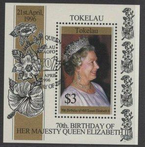 TOKELAU ISLANDS SGMS244 1996 70th BIRTHDAY OF QUEEN ELIZABETH FINE USED