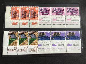 Israel Whale Margin  Mint Never Hinged  Stamps Blocks R38787