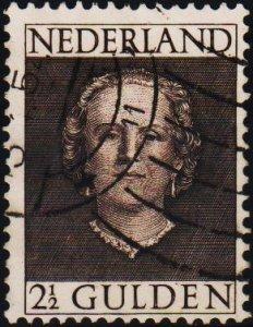 Netherlands. 1949 2 1/2g S.G.699 Fine Used