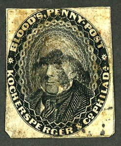 U.S. #15L18 1855 USED LOCAL STAMP