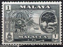 Malaya Malacca; 1960: Sc. # 56; **/MNH Single Stamp