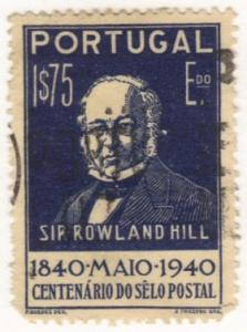 Portugal #602 used Rowland Hill