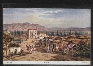 Palestine Artist Postcard, Ancient & Legendary City of Jericho,VF Unposted !!