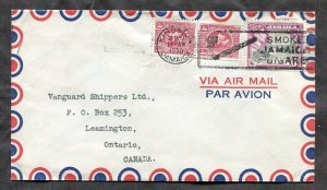 p80 - JAMAICA 1950 Tobacco / Cigar Slogan on Airmail Cover to CANADA
