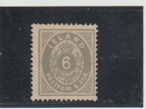 Iceland  Scott#  10  MH  (1876 Numeral)