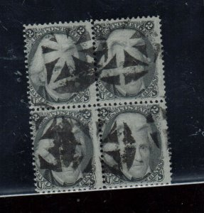 USA #73 Used Block With Ideal Geometric Cancels