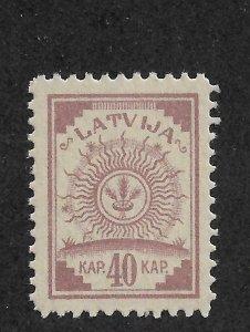 Latvia 1921, Coat of Arms, 40k Scott # 79, VF MNH**