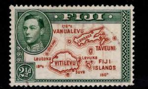 FIJI Scott 134 map stamp with 180 degrees Used perf 13.5