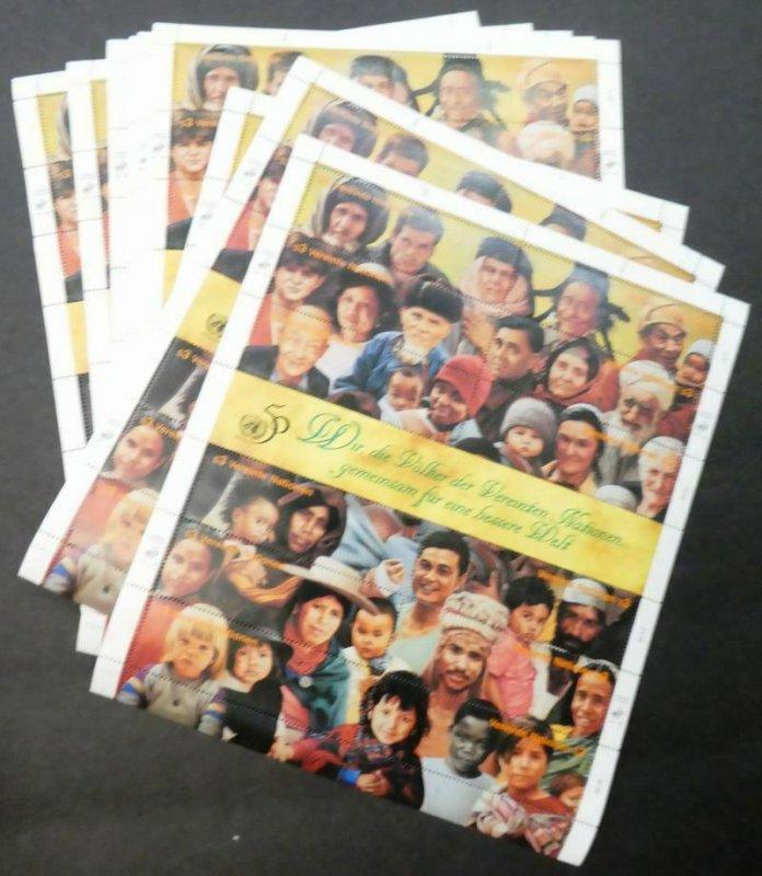 EDW1949SELL : UNITED NATIONS 1995 Vienna Sc #191. 15 Cplt shts VFMNH Retail $255