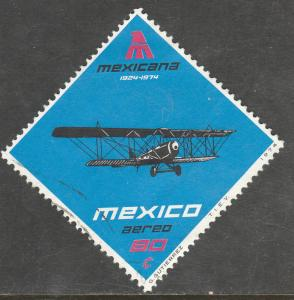 MEXICO C430, 50th Anniversary of Mexicana Airlines USED. F-VF.(1303)