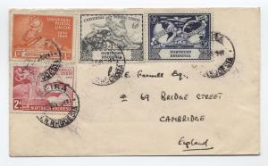 1949 Northern Rhodesia UPU set on cover to UK [y2207]