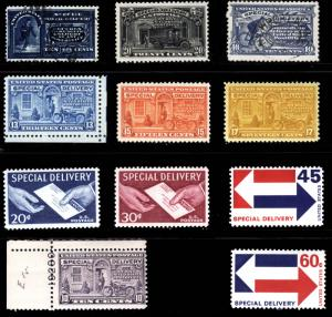 #E2-#E23 1888-1971 Special Delivery Lot Mostly Mint  FRESH 11 items