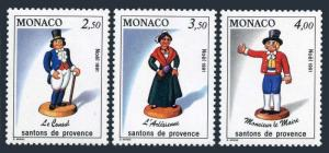 Monaco 1766-1768,MNH.Michel 2035-2037. Christmas 1984,Figurines from Province.